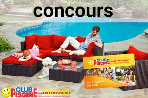 Carte-cadeau Club Piscine de 500$