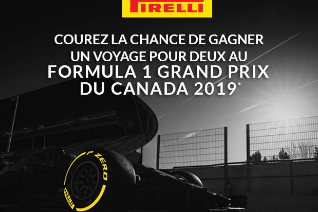 CANADIAN GRAND PRIX 2019 SWEEPSTAKE