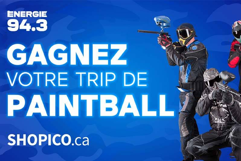 200 $ à dépenser chez Paintball Mirabel ou BlackOps Paintball grâce à Shopico