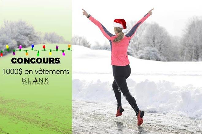 CONCOURS NOËL BLANK ACTIVEWEAR - 1000$